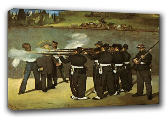 Manet, Edouard: The Execution of Emperor Maximilian of Mexico. Fine Art Canvas. Sizes: A3/A2/A1 (00175)